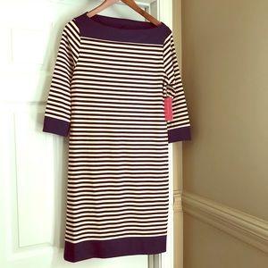 NWT Isaac Mizrahi Blue/Black Striped Dress